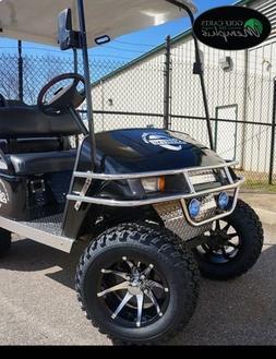 "EZGO TXT Electric Golf Cart 2001-Newer 6"" Lift Kit + 12"" Whe"