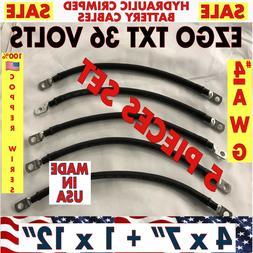 EZGO TXT Golf Cart Battery Cable 36 VOLTS 4 AWG set battery