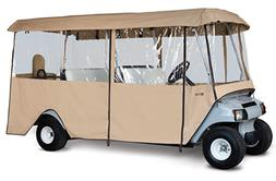 Fairway Tan 6 Passengers Fairway Deluxe 4-Sided Golf Car Enc
