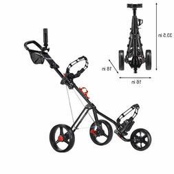 Hoveroid Foldable 3 Wheel Golf Push Cart w/ CaddyLite 11.5 V