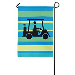 Garden Flag Golf Cart Crossing House Flags Cool