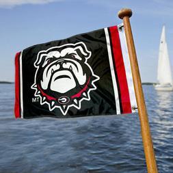 georgia bulldogs boat yacht golf cart flag
