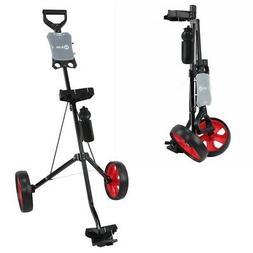Ram Golf 2 Wheel Folding Steel Pull Cart w/ Water Bottle, Sc