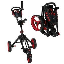 Caddymatic Golf 360 SwivelEase 3 Wheel Folding Golf Cart