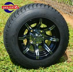 """GOLF CART 10"""" MACHINED SPIDER WHEELS and 205/50-10 LOW PROFI"""