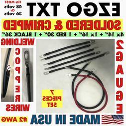 Golf cart battery cables Ezgo txt 36 or 48 volts 7 pieces se