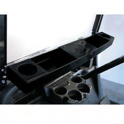 Golf Cart Black Dash Organizer Beverage Tray Universal Fit C