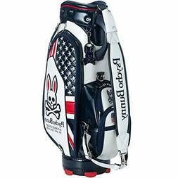 PSYCHO BUNNY Golf Cart Caddy Bag Union Jack 9 x 46 inch 5.3k