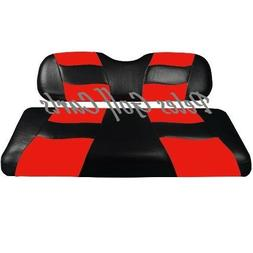 Golf Cart Custom Front Seat Covers BLACK/RED Club Car EZGO Y