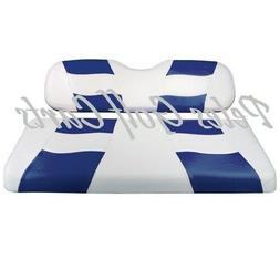 Golf Cart Custom Seat Covers BLUE/WHITE Club Car EZGO Yamaha