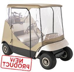 Golf Cart Rain Cover Enclosure 2 Person Club Car Waterproof