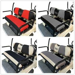 10L0L Golf Cart Rear Seat Cover Set Washable Fit Club Car EZ