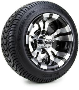 """Golf Cart Wheels and Tires Combo - 10"""" Vampire SS w/ Low Pro"""