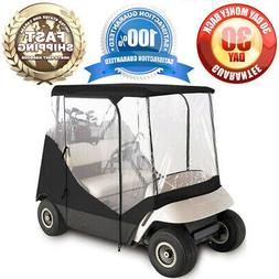 GOLF CLUB CART COVER ENCLOSURE WITH CLEAR WINDOW / DOORS 2 S
