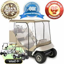 GOLF CLUB CART COVER ENCLOSURE WITH CLEAR WINDOW / DOORS 4 S
