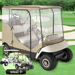 4 Passenger Driving Enclosure Golf Cart Cover Fit EZ Go,Club