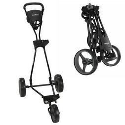 Caddymatic Golf Continental 3 Wheel Folding Golf Push/Pull C