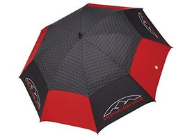 Sun Mountain Golf Manual UV Umbrella Black/Red