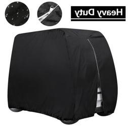 Heavy Duty 4 Passenger Golf Cart Cover Waterproof Zip Fit EZ