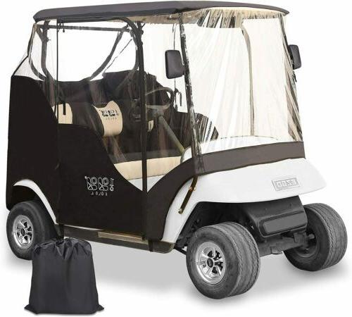 2 passenger driving enclosure golf cart cover
