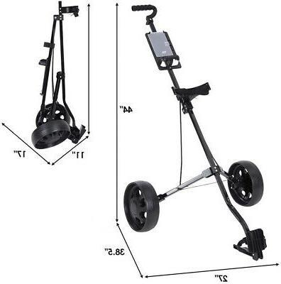 2 Wheel Cart Folding Golf Carts Lightweight Trolley to Carry