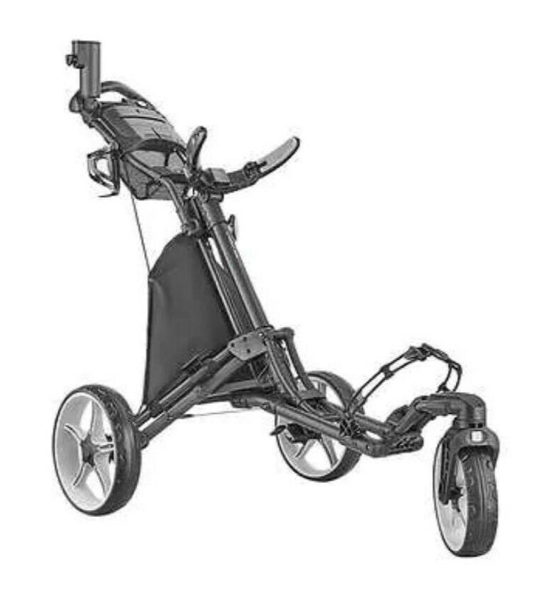 3 wheel golf push cart with swivel