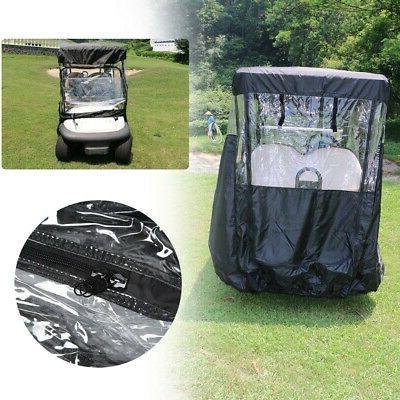 2/4 Passengers Golf Cart Cover Rain Protector Storage Fits F