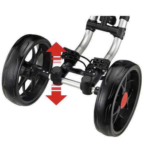 CaddyTek 4 Wheel Push Cart One V8, Blue,