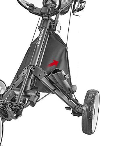 CaddyTek V8 - EZ-Fold 3 Wheel Golf Cart 8, Silver