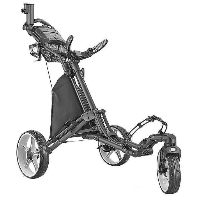 CaddyTek Golf Push Cart - LIME Green