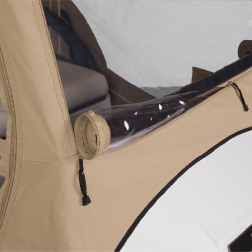 Classic Fairway 4-Sided 2-Person Golf Enclosure Car, Tan
