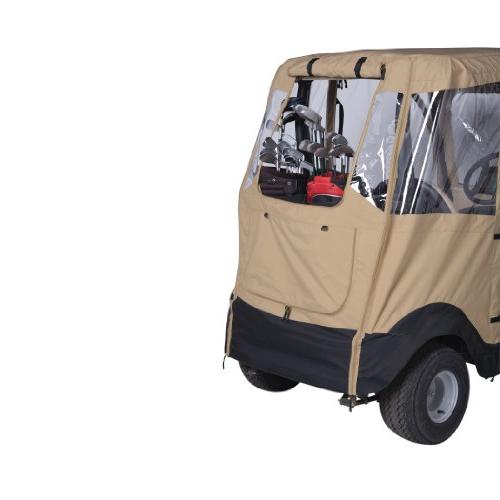 Classic Fairway Deluxe 4-Sided 2-Person Cart Enclosure For Club Car, Tan