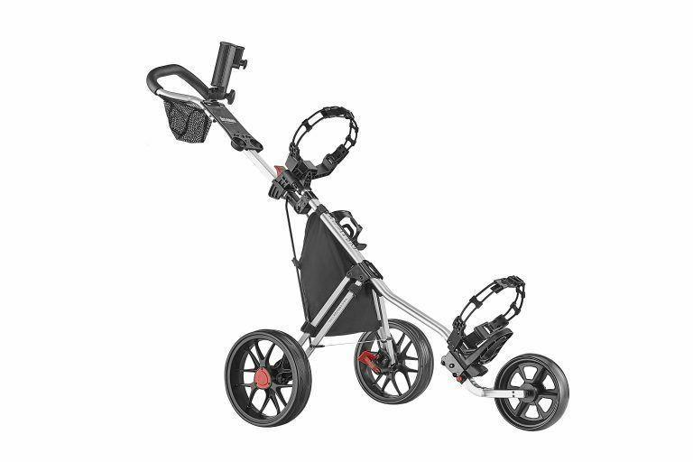 deluxe 3 wheel golf push cart version