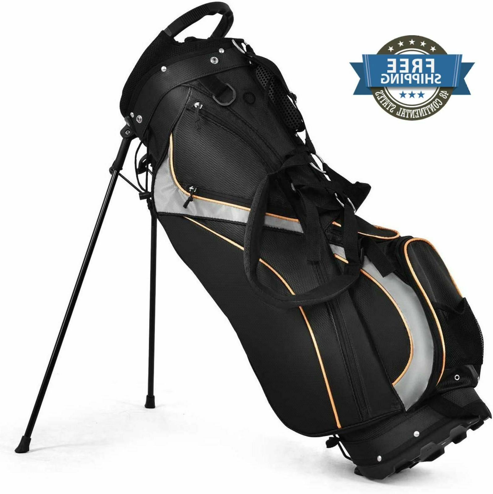 Golf Cart Bag Carry 7 Way Dividers Holder Stand Storage Rack