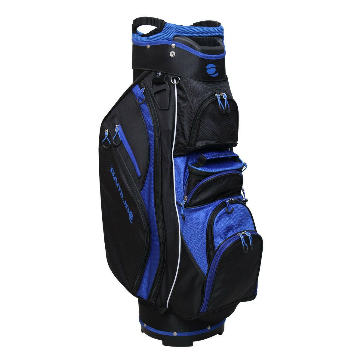 golf crx cooler cart bag black blue