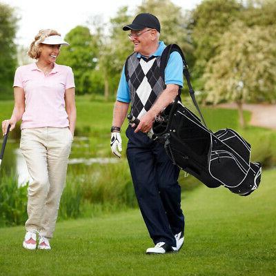 Golf Cart Club Carry Pockets Storage Black