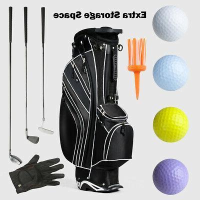 Golf Stand Club Carry Organizer Black