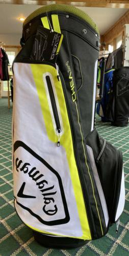 NEW 2020 Callaway Golf Chev 14 Cart Bag: Black & Floral Yell
