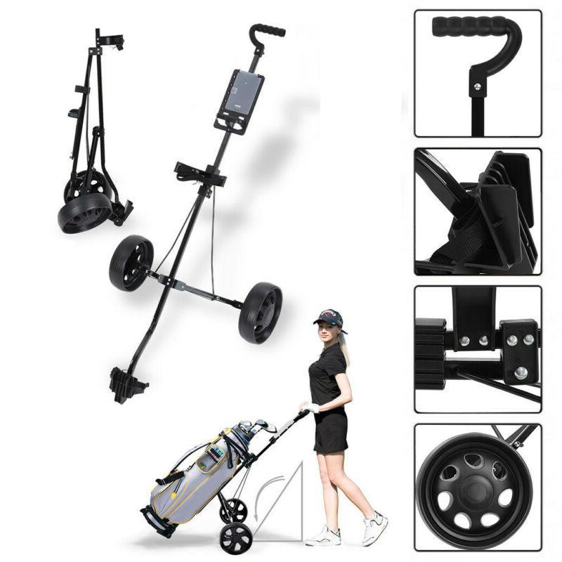 new foldable 2 wheel push pull golf