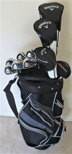 NEW Mens LH Callaway Golf Set Driver, Wood, Hybrid, Irons, P