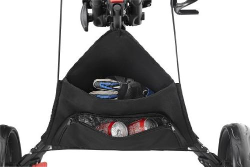 CaddyTek Wheel Version 3 Golf Push Cart, Red