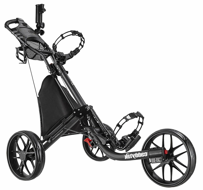 Open Box CaddyTek CaddyLite Wheel Golf Push Cart
