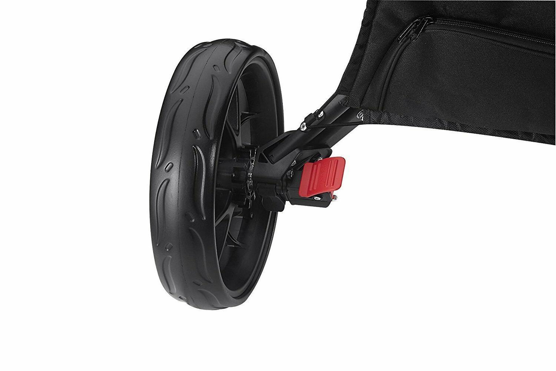 Open Dark CaddyTek EZ-Fold 3 Wheel Golf Cart