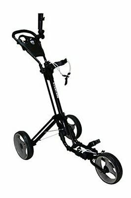 Qwik-Fold 3 Wheel Push Pull Golf CART - Foot Brake - ONE Sec