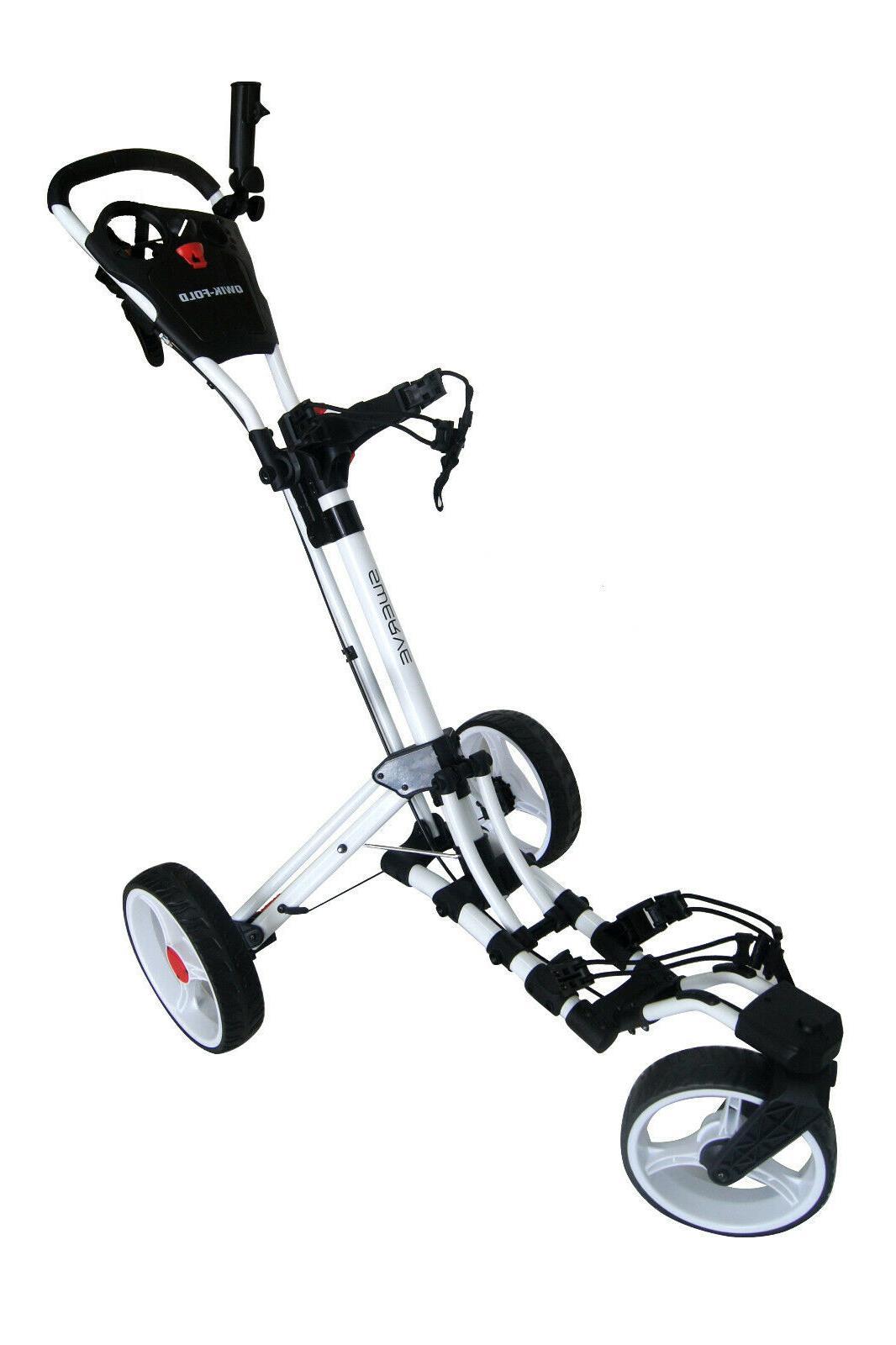Founders Club Qwik Swerve 360 3 Wheel Pull Cart Trolley
