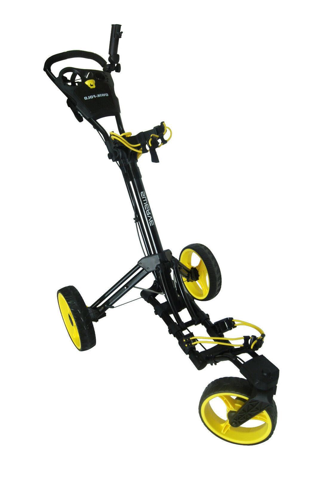 Founders Qwik Fold Swerve Swivel Wheel Push Pull Cart