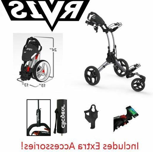 EXTRAS! Rovic RV1S SWIVEL Clicgear Compact Golf Push Cart Si