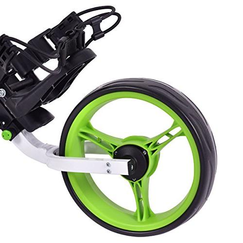 Tangkula Golf Swivel Foldable 3 Push Pull Golf with Seat Golf Push