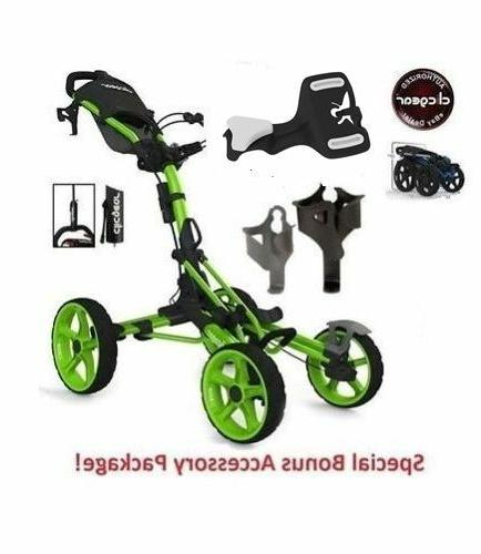 NO New Clicgear 8.0 Model LIME Four Cart 4 GREEN