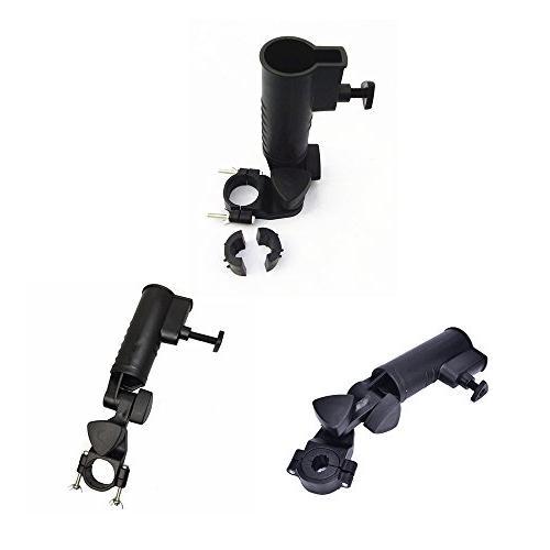 QIYAT Umbrella Holder, 15mm 25mm 30mm Handle Connector Sizes Golf Cart, Bike, Stroller,Fishing with Round 15mm -